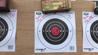 "Tikka T3x Varmint .223 1 in 8"" twist - Groups with different types of ammo at 100 yards"