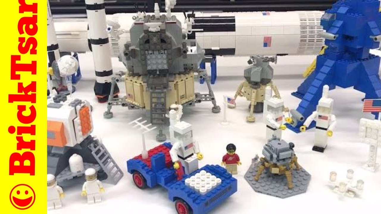 Lego Lunar Lander Collection Apollo Saturn V And Moon Landing Sets