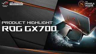 ASUS ROG Insider: Product highlight ROG GX700 at the Manila Major