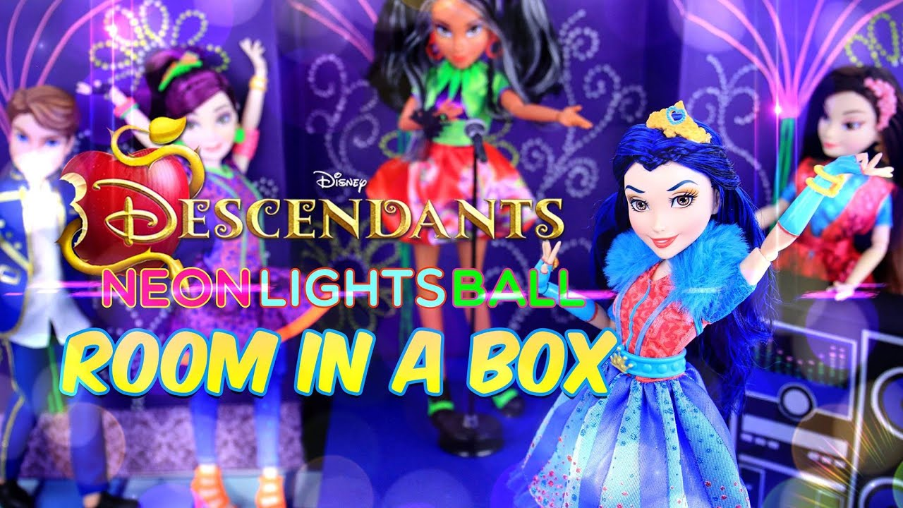 Diy How To Make Disney Descendants Neon Lights Ball