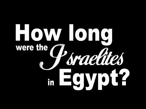 How Long Were The Israelites In Egypt?