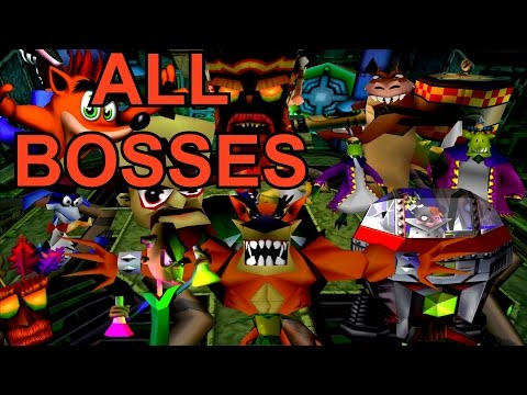 Crash Bandicoot 1, 2 and 3 - ALL Bosses (No Damage)