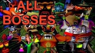 Crash Bandicoot 1, 2 and 3 - ALL Bosses (No Damage)