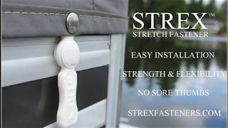STREX Fastener System for Boat Covers