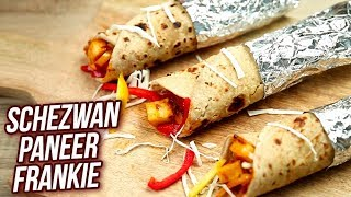 Schezwan Paneer Frankie Recipe - How To Make Veg Frankie - Quick Snack - Stop Motion Cooking -Sonali