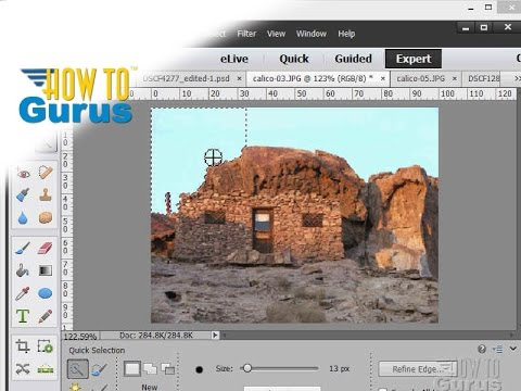 How To Use The Quick Selection Tool In Adobe Photoshop Elements 15 14 13 12 11 Tutorial
