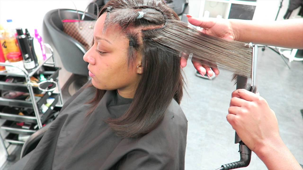 Tutorial Natural Leave Out Sew In Youtube