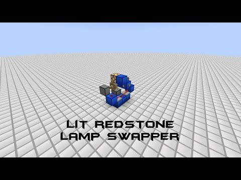 TUTORIAL: Tiny Lit Redstone Lamp Swapper [Response to Fennoman]