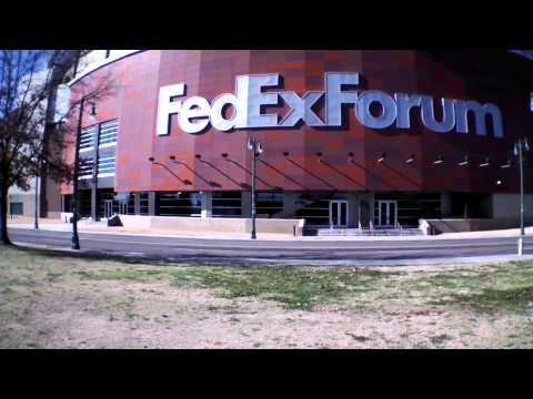 MrSan44Man @ The FedExForum Flying Over Downtown Memphis (Detroit Raw)