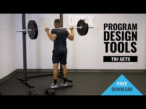 Tri Sets Fitness Program Design Tools