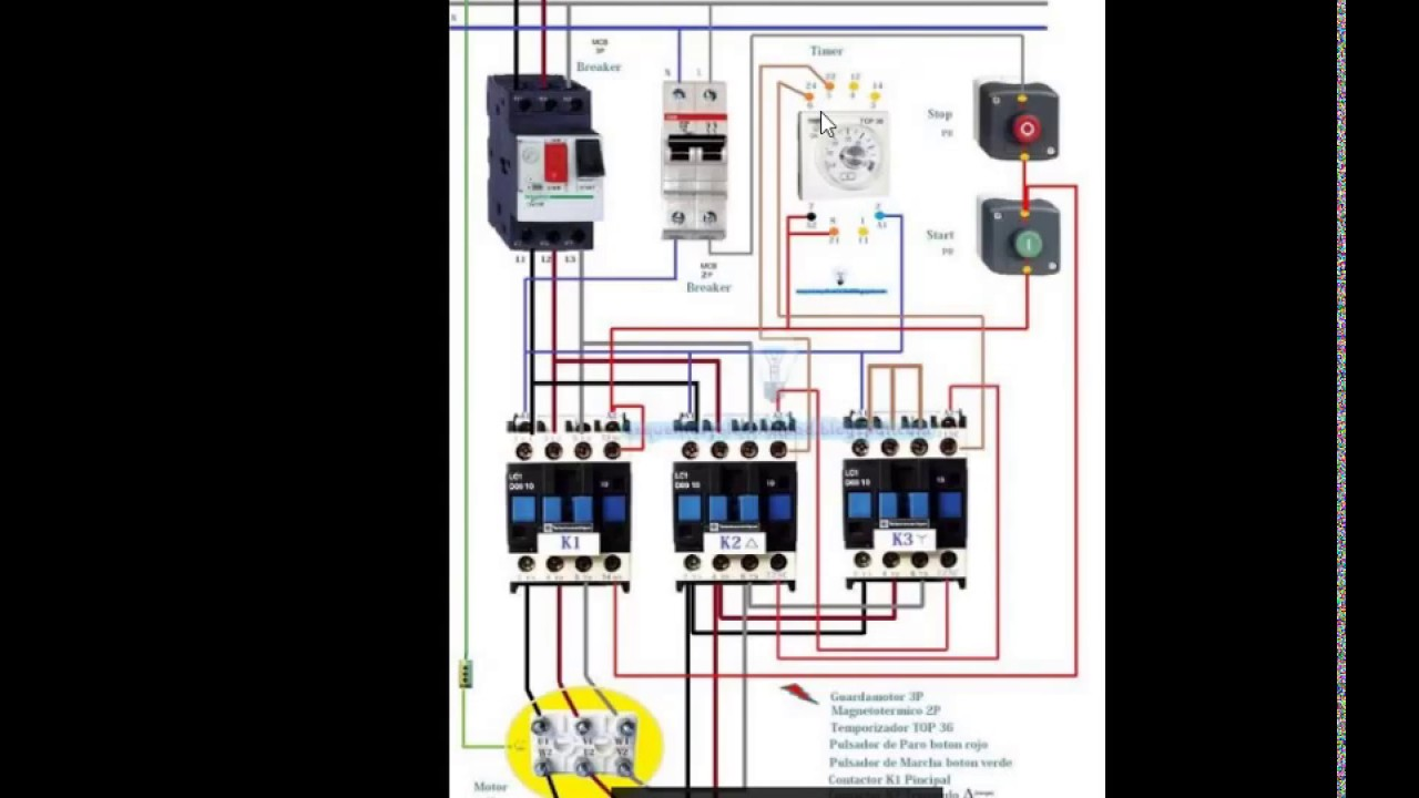 Wiring Diagram For Star Delta Starter With Control