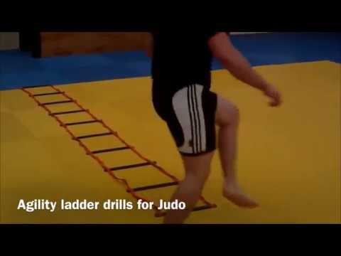 Agility ladder drills for Judo