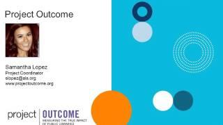 Webinar - Measuring Program Outcomes -2016-05-04