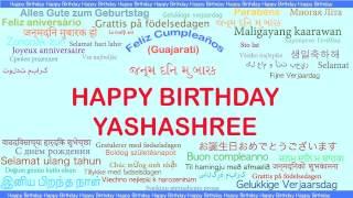 Yashashree   Languages Idiomas - Happy Birthday