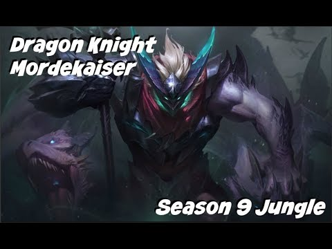 League Of Legends Dragon Knight Mordekaiser Jungle Gameplay