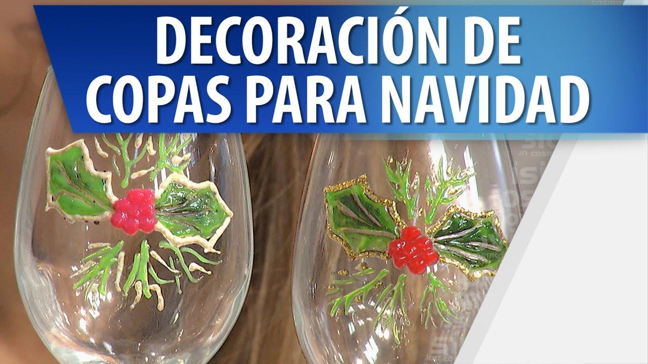 Decoraci n de copas para navidad manualidades para - Manualidades de navidad ...