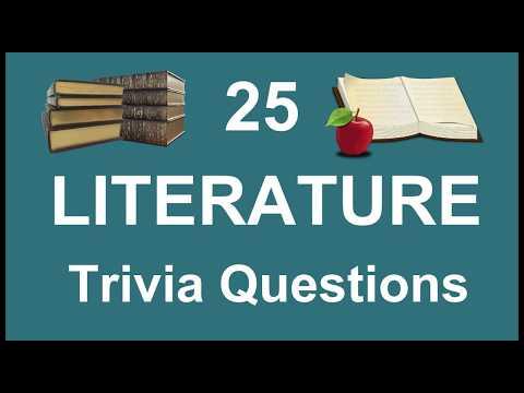 25 Literature Trivia Questions | Trivia Questions & Answers |