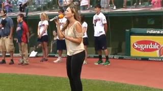 Tiffany Marchak performs the National Anthem at the Cleveland Indians Game!