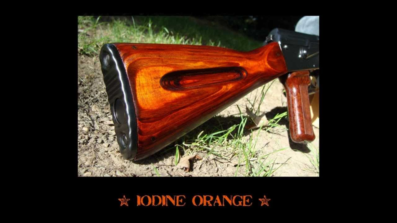 Combloc Customs Iodine Orange Finish Ironwood Designs Akm