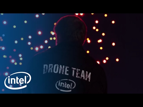 Coachella Shooting Star Drones Light Show | Intel