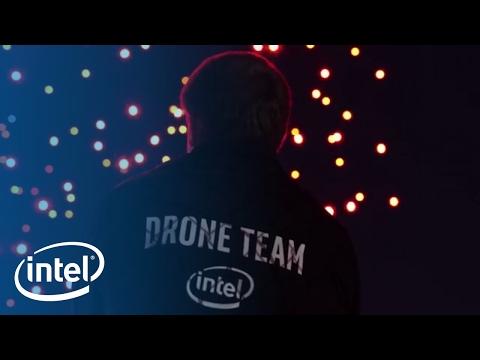 Coachella Shooting Star Drones Light Show | Intel