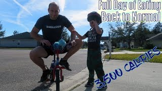 3,500 Calories Full Day of Eating | Back to Normal | Workout | Vlog | Strength Bulk Ep. 152