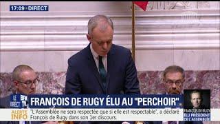 Video Elu président de l'Assemblée nationale, François de Rugy rend hommage à Corinne Erhel download MP3, 3GP, MP4, WEBM, AVI, FLV November 2017