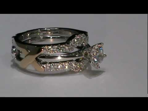 18k white rose gold custom design wedding ring enhancer youtube