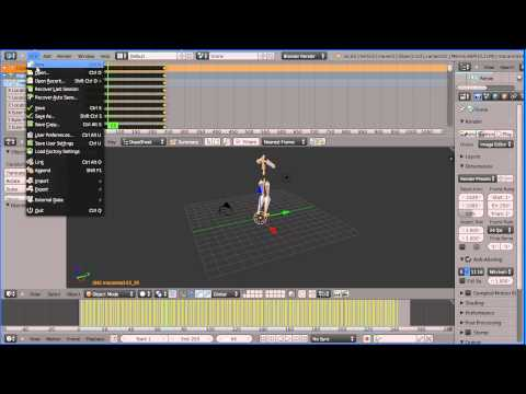 Blender Tutorial Linking More Motions to a Carnegie Mellon University Motion Capture Stick Man