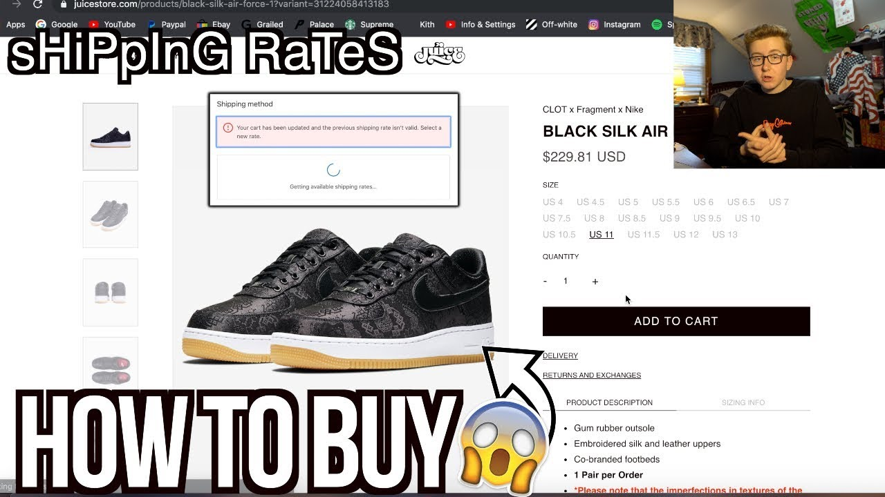 HOW TO BUY Nike x Clot From JuiceStore For The US! | NO MORE SHIPPING  ISSUES!