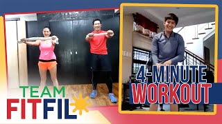 Download Mp3 4-minute Towel Workout With Robi Domingo | Team Fitfil Episode 2