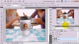 Макет фирменного стаканчика для кофе(Меню и коробки для пиццы, металлические банки для напитков и этикетки на пластиковых бутылках для прохлади..., 2013-11-06T12:02:42.000Z)