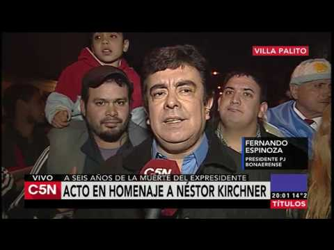 C5N - Homenaje a Nestor Kirchner Habla Fernando Espinoza
