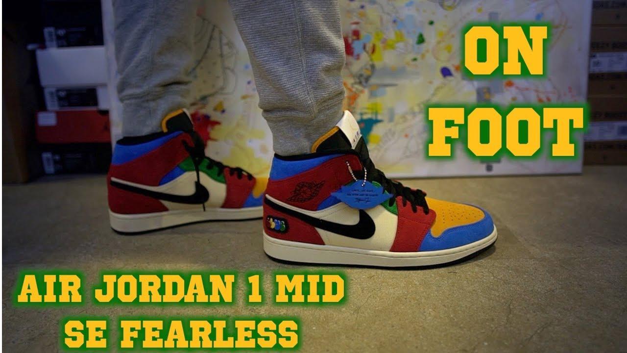 Air Jordan Mid Se Fearless On Foot Youtube
