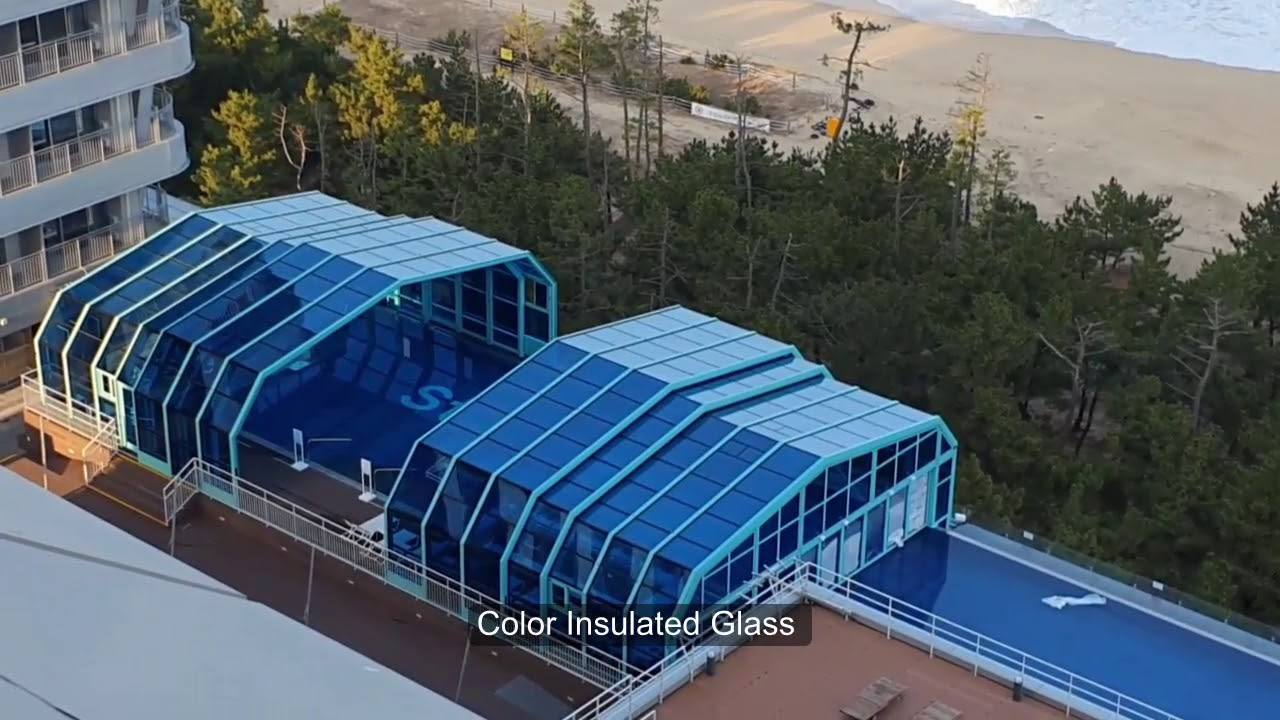 Libart St John S Hotel Freestanding Retractable Pool Enclosure Korea Youtube