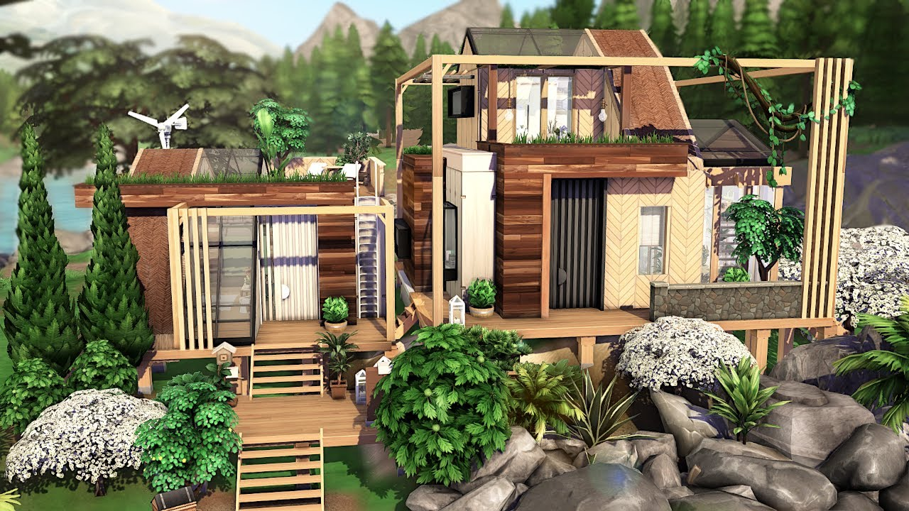 ECO HOUSE 🌿🌱 | THE SIMS 4 - Speed Build (NO CC)