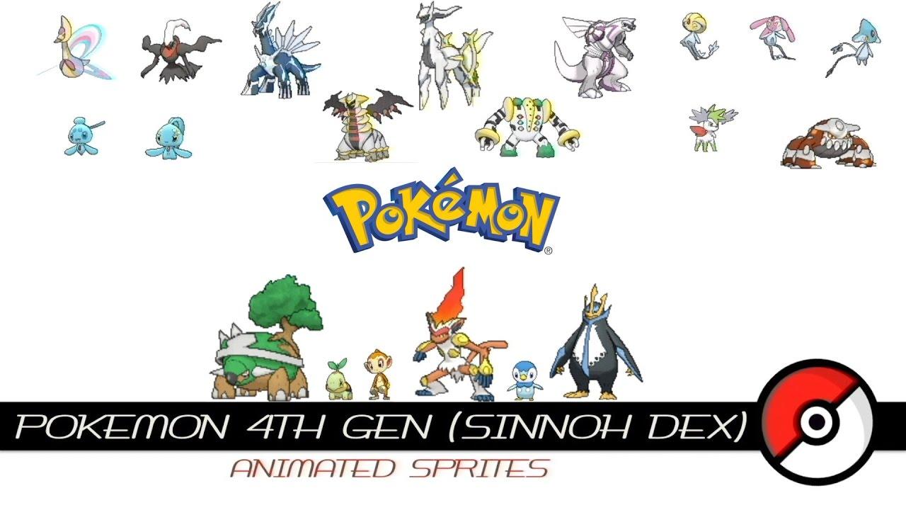 Pokemon 4th Gen Animated Sprites Youtube