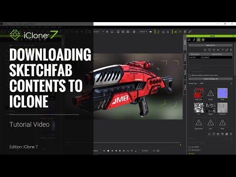 iClone 7 Tutorial - Three PBR Workflows for Sketchfab Download