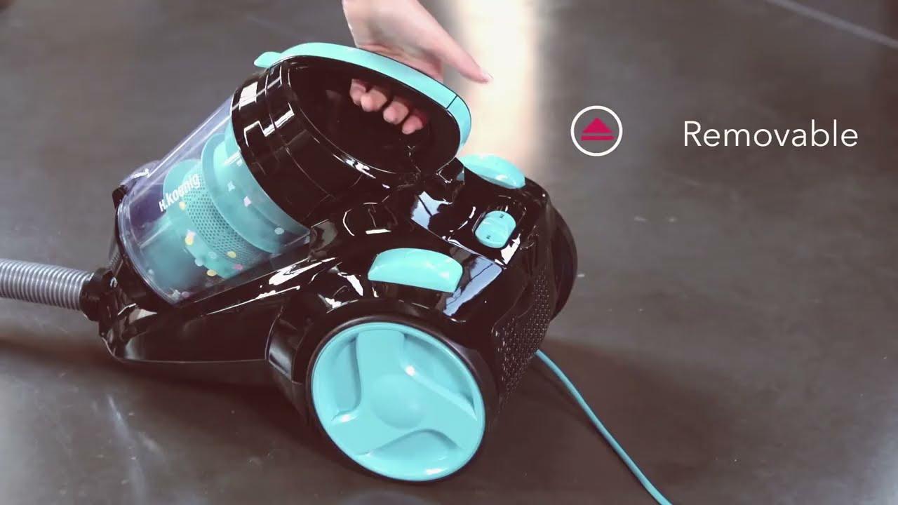 aspirateur sans sac silence cats dogs slc85 h koenig youtube. Black Bedroom Furniture Sets. Home Design Ideas