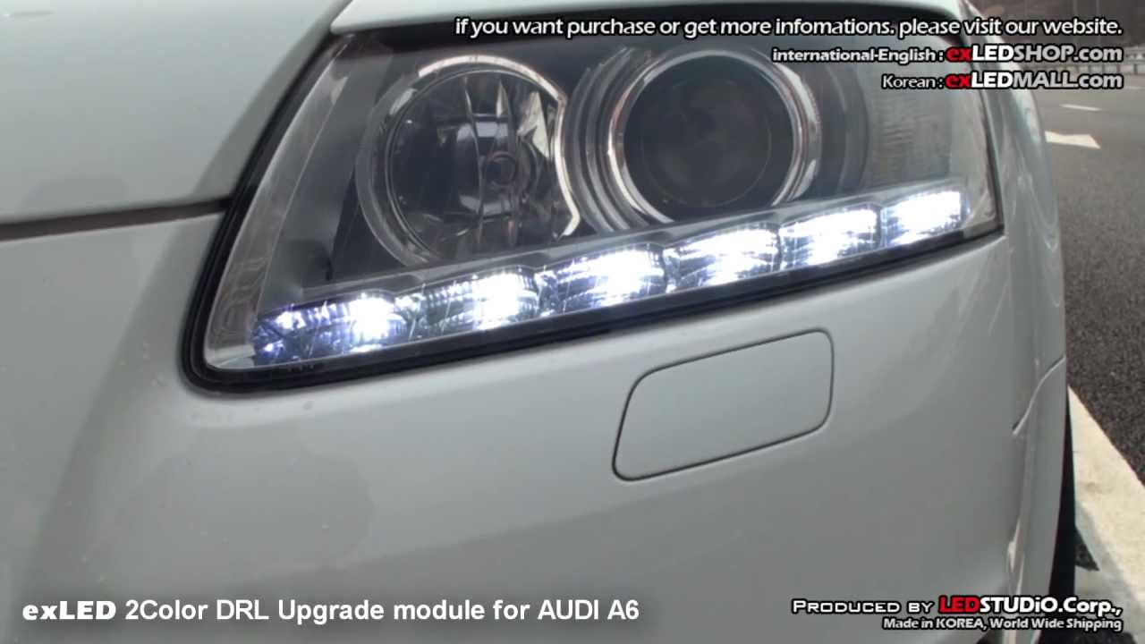 exled 2color drl upgrade module for audi a6 youtube. Black Bedroom Furniture Sets. Home Design Ideas