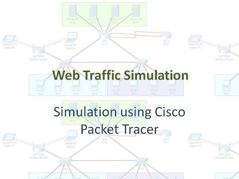 Web Traffic Simulation using Cisco Packet Tracer