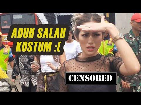 Saltum! Jessica Iskandar Pakai Baju Seksi Transparan Saat Naik KRL Pertama Kalinya