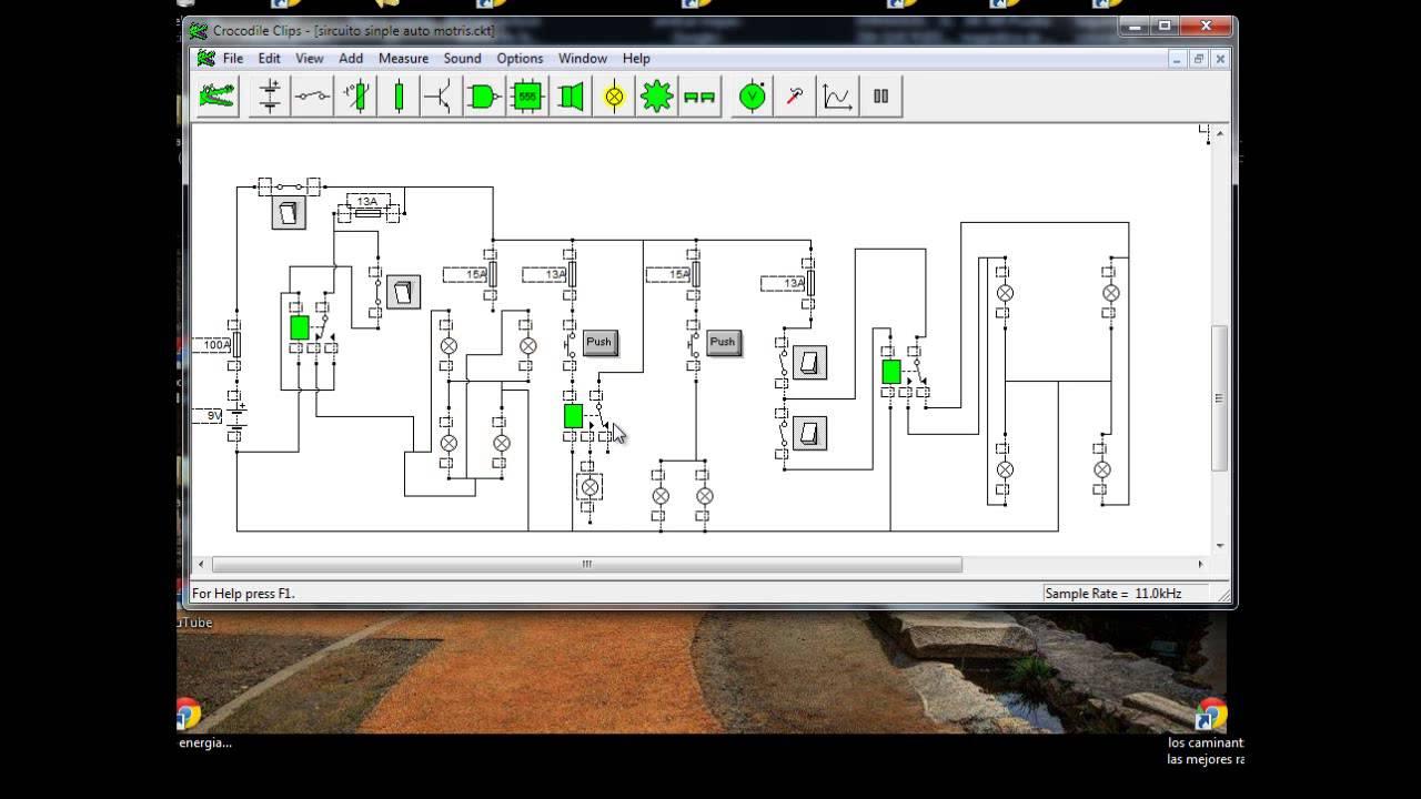 Circuito Motriz : Luces auto motriz circuito simple youtube