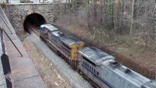 CSX 9037 and 7558 on the Baltimore Terminal Sub