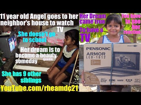 Travel to the Philippines and Meet this Girl who Dreams of Having a Television Set. World's Society