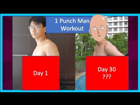 I Trained Like Superheroes For 30 Days (Amazing Transformation): One Punch Man Challenge   新加坡一拳超人健身