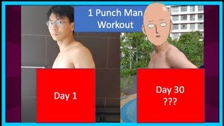 I Trained Like Superheroes For 30 Days (Amazing Transformation): One Punch Man Challenge | 新加坡一拳超人健身