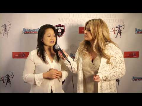 Toy Lei on the red carpet at Artemis Women in Action Film Festival
