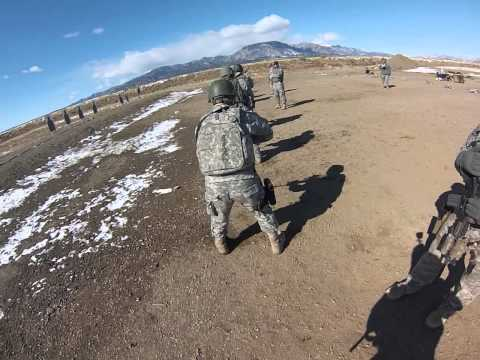 10th SFG (A) on the range, with my new gopro