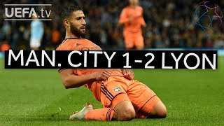 MAN. CITY 1-2 LYON #UCL HIGHLIGHTS